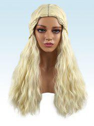 Long Center Parting Braided Corn Hot Wavy Cosplay Synthetic Wig -
