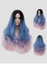 Long Side Parting Wavy Colorful Party Synthetic Wig -