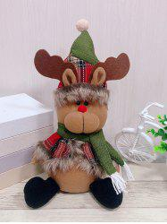 Christmas Theme Elk Shape Decor Doll -