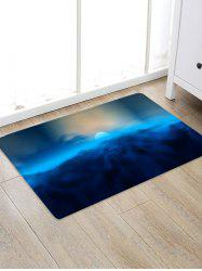 Moon and Cloud Pattern Water Absorption Area Rug -