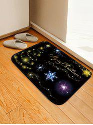 Christmas Star Tree Pattern Water Absorption Area Rug -