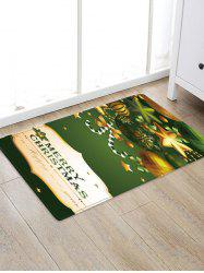 Merry Christmas Ornaments Pattern Water Absorption Area Rug -
