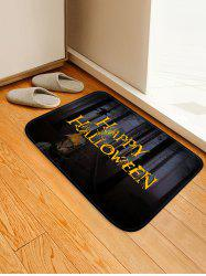 Halloween Forest Owl Pattern Water Absorption Area Rug -