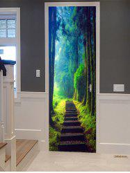 Forest Path Pattern Door Cover Stickers -