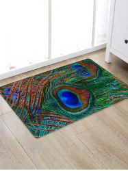 Peacock Feather Pattern Water Absorption Area Rug -