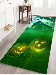 Halloween Pumpkins House Pattern Water Absorption Area Rug -