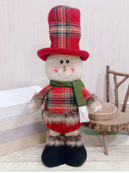 Christmas Theme Snowman Shaped Stretchable Decoration Doll -