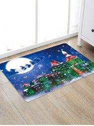 Christmas Night City Pattern Water Absorption Area Rug -