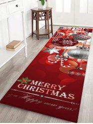 Christmas Hanging Balls Pattern Water Absorption Area Rug -