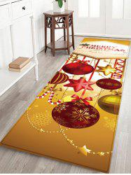 Christmas Ball Pattern Water Absorption Area Rug -