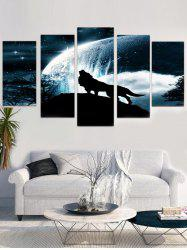 Unframed Star Wolf Printed Split Canvas Paintings -