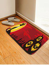 Halloween Cat Pumpkins Pattern Water Absorption Area Rug -