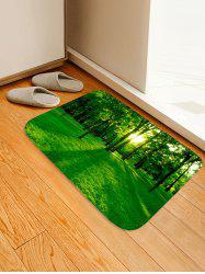 Forest Sunshine Pattern Water Absorption Area Rug -