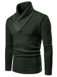Shawl Collar Solid Color Pullover Sweater -