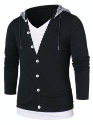 Color Block Faux Twinset Hoodie -