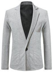 Solid Color Single Button Blazer Coat -