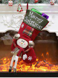 Merry Christmas Theme Snowman Stocking Decor -
