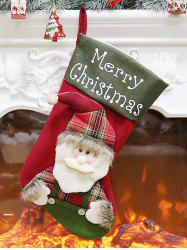 Christmas Theme Santa Claus Stocking Gift Decor -