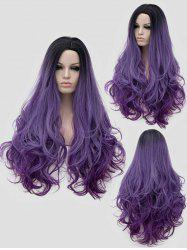 Long Side Parting Colormix Wavy Party Cosplay Synthetic Wig -
