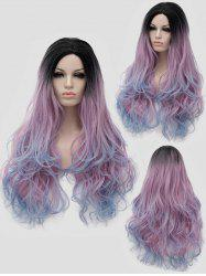 Long Side Parting Colormix Wavy Party Synthetic Wig -
