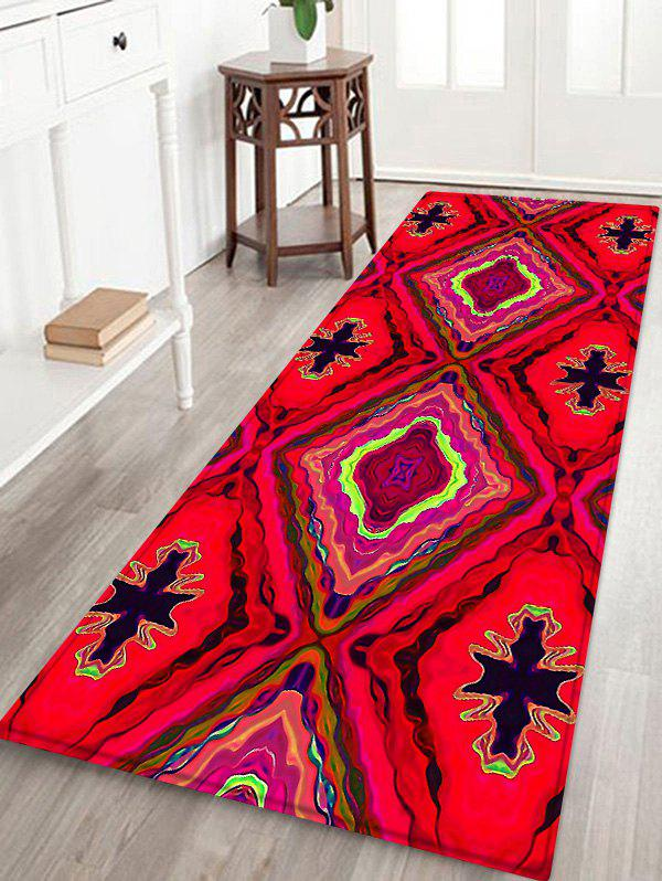Fashion Vintage Geometry Pattern Water Absorption Area Rug