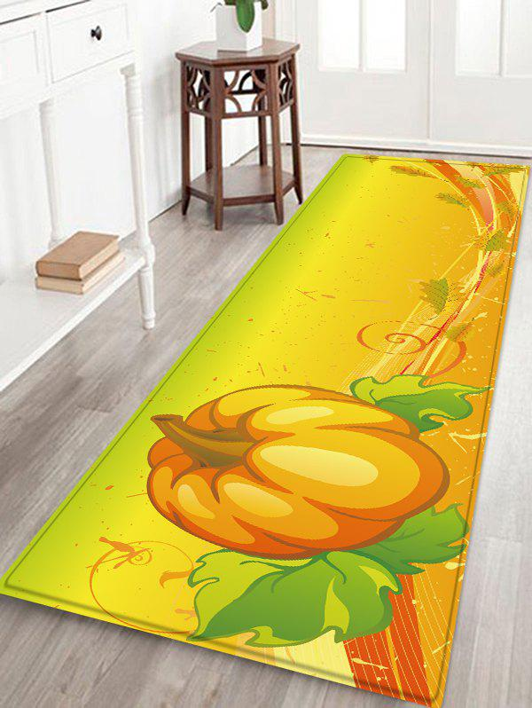 Outfit Halloween Pumpkin Leaves Pattern Water Absorption Area Rug