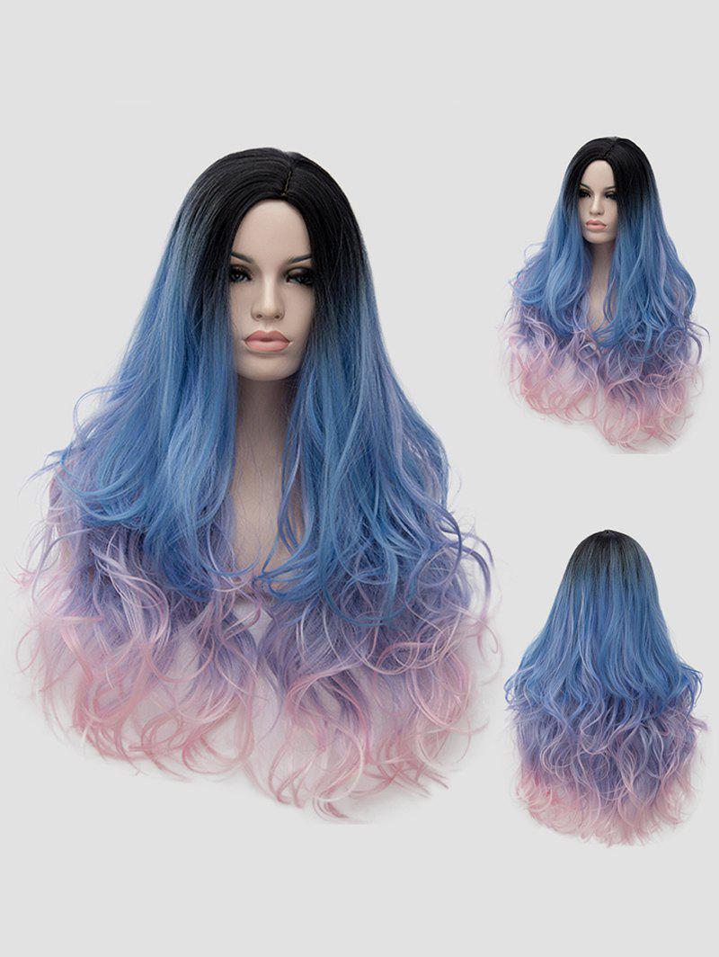 Shops Long Side Parting Wavy Colorful Party Synthetic Wig