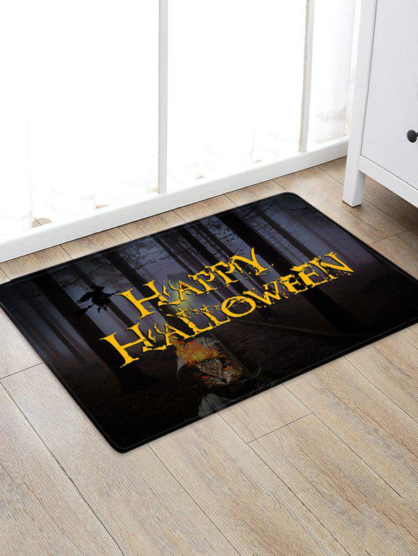 Buy Halloween Forest Owl Pattern Water Absorption Area Rug