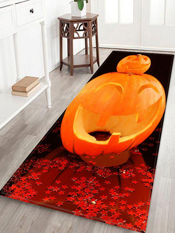 Sale Halloween Pumpkin Star Print Water Absorption Area Rug