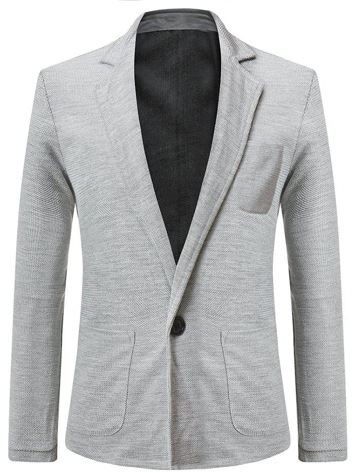 Affordable Solid Color Single Button Blazer Coat