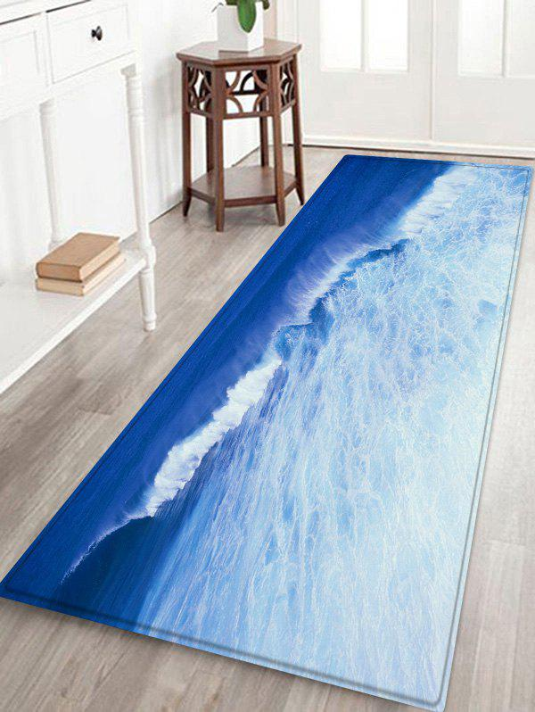 Shops Sea Wave Pattern Water Absorption Area Rug