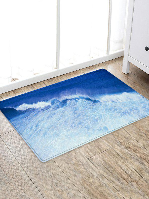 Chic Sea Wave Pattern Water Absorption Area Rug