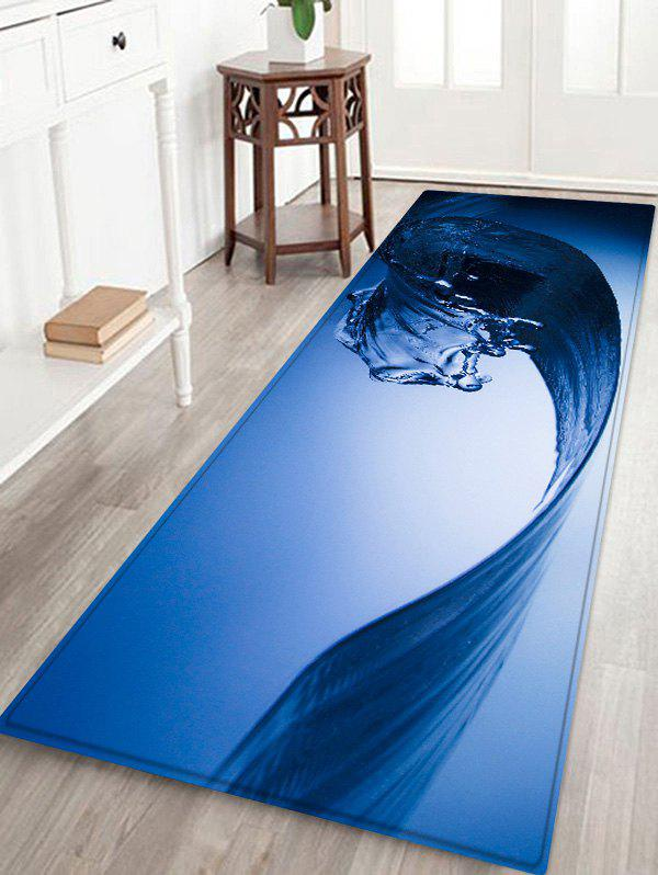 Affordable Water Wave Pattern Water Absorption Area Rug