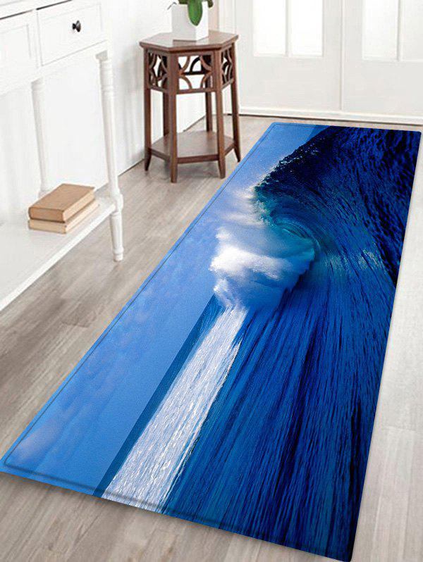 Unique Ocean Wave Pattern Water Absorption Area Rug