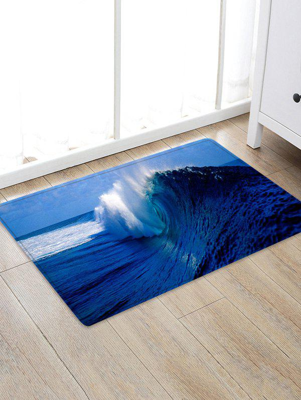38 Off Ocean Wave Pattern Water Absorption Area Rug