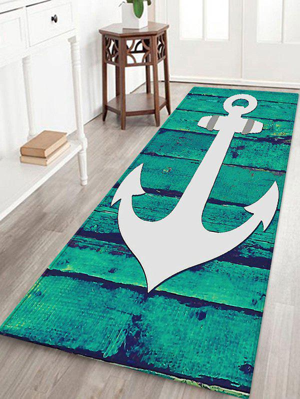 Outfits Anchor Wood Grain Pattern Water Absorption Area Rug
