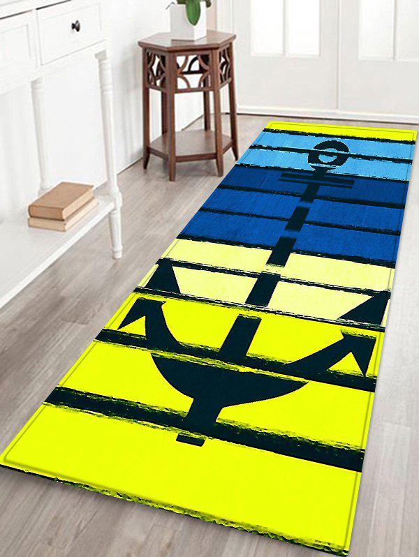 Store Anchor Colorful Pattern Water Absorption Area Rug