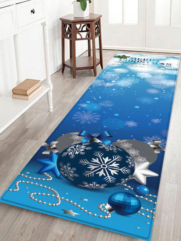 Shop Merry Christmas Balls Pattern Water Absorption Area Rug