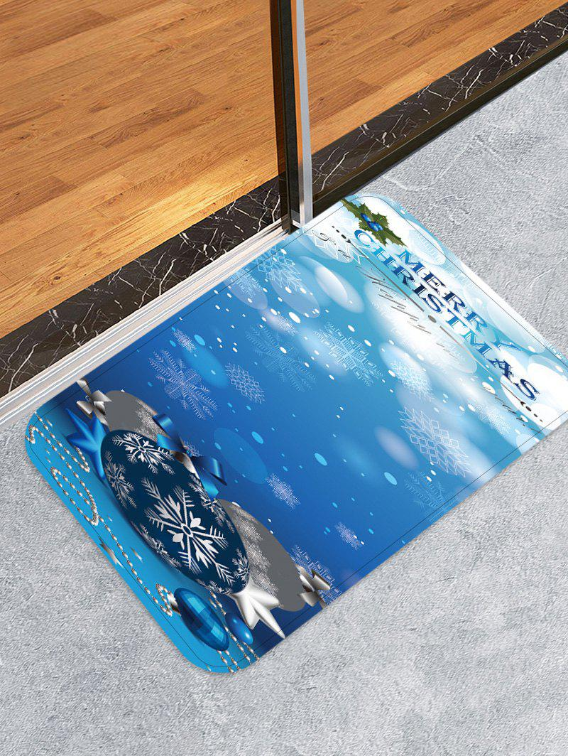 Fashion Merry Christmas Balls Pattern Water Absorption Area Rug