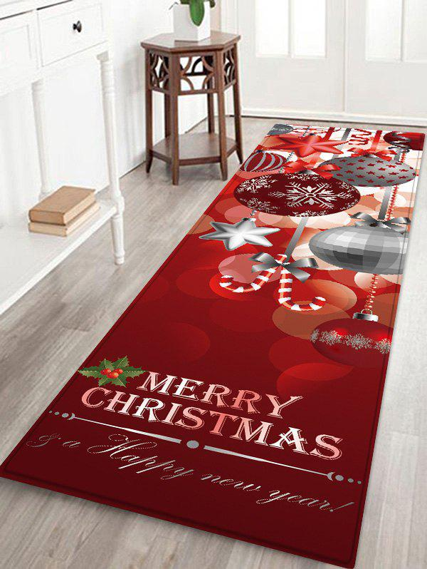 Shop Christmas Hanging Balls Pattern Water Absorption Area Rug