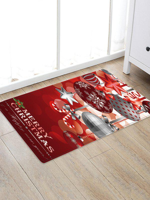 Best Christmas Hanging Balls Pattern Water Absorption Area Rug