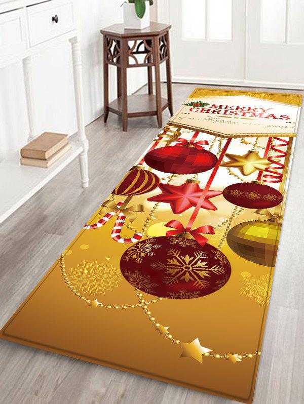 Unique Christmas Ball Pattern Water Absorption Area Rug