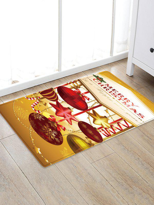 Fashion Christmas Ball Pattern Water Absorption Area Rug