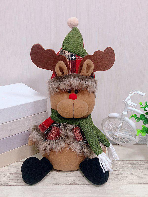 Latest Christmas Theme Elk Shape Decor Doll