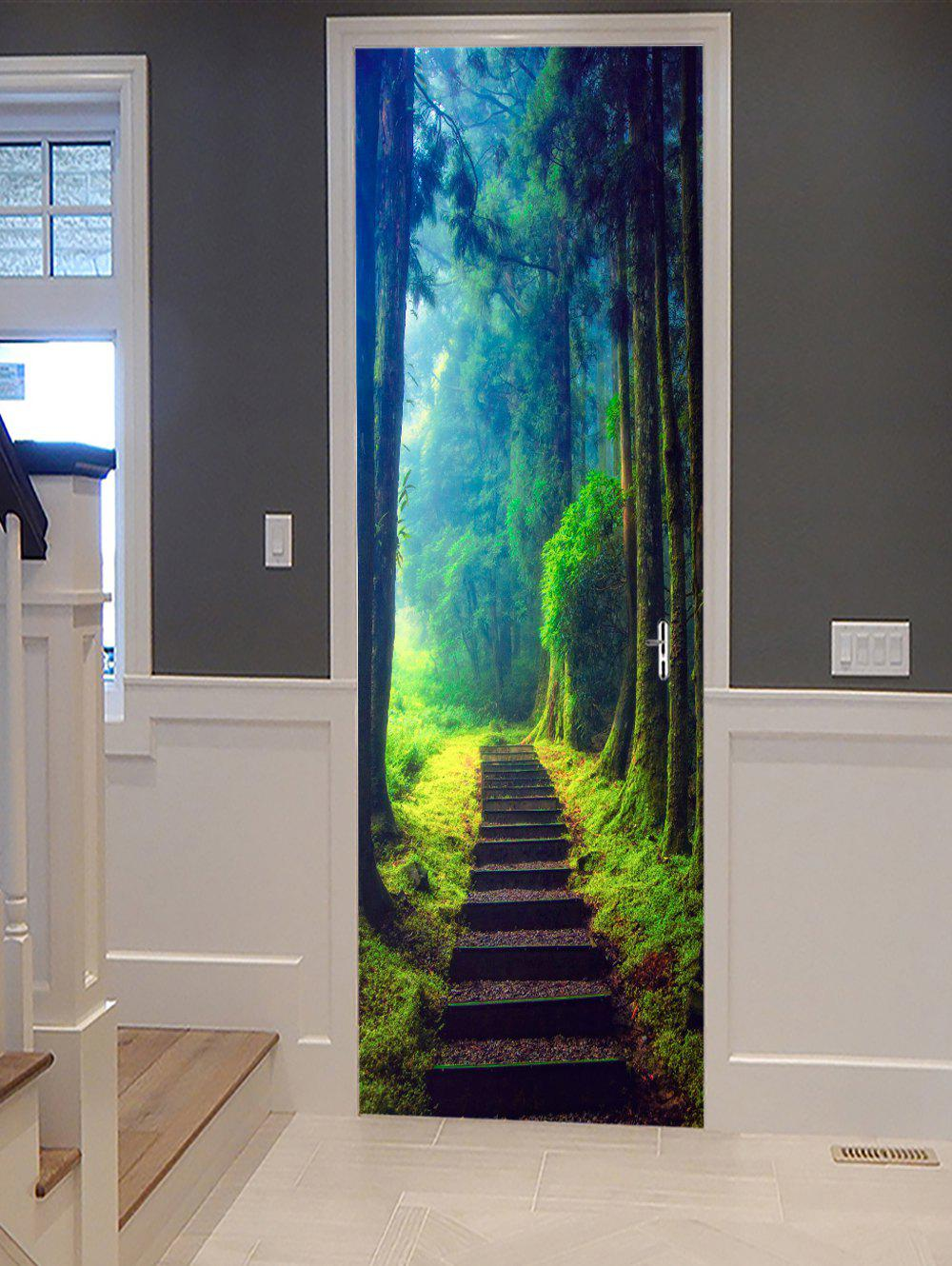 Best Forest Path Pattern Door Cover Stickers