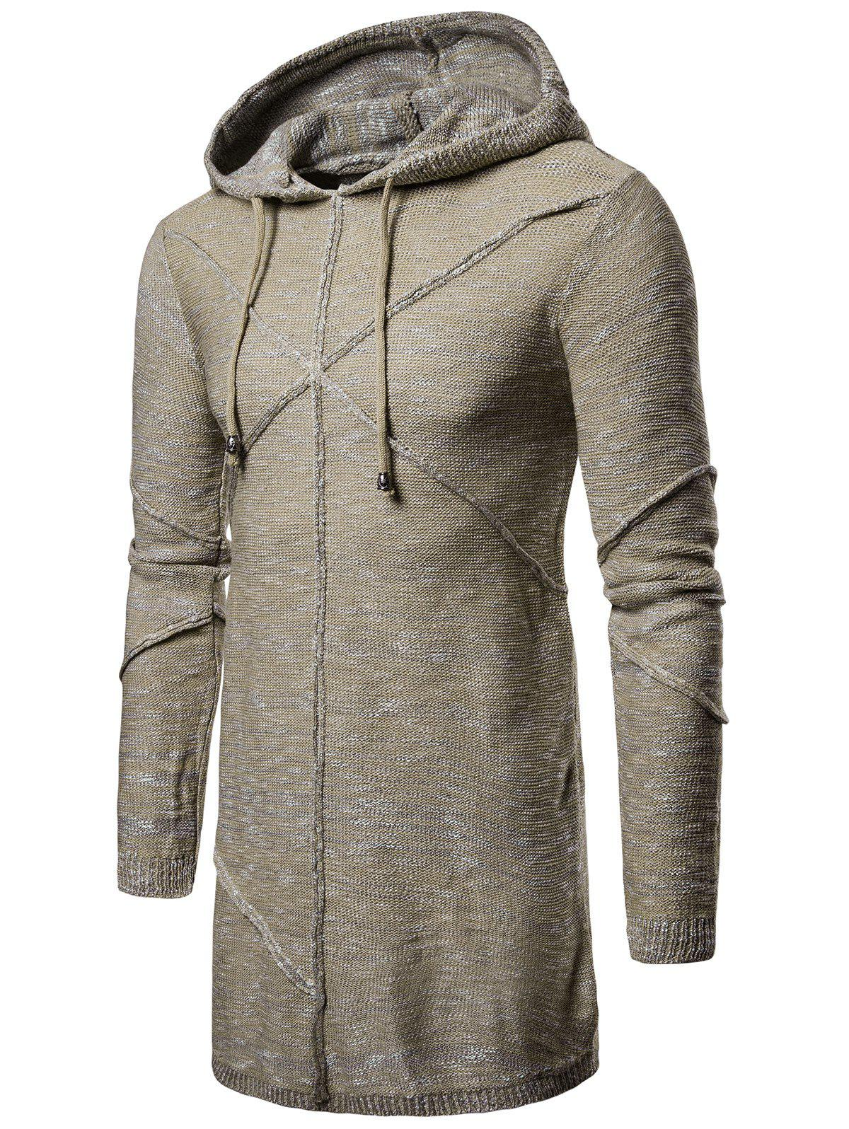 Chic Hooded Cross Longline Pullover Sweater