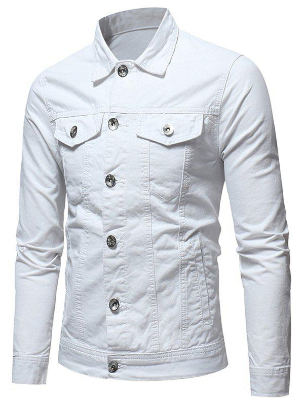 Buy Button Placket Whole Colored Jacket