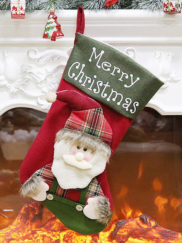 Trendy Christmas Theme Santa Claus Stocking Gift Decor