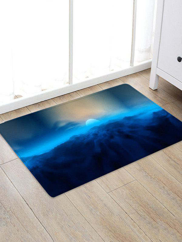 Fashion Moon and Cloud Pattern Water Absorption Area Rug