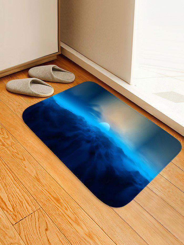 Affordable Moon and Cloud Pattern Water Absorption Area Rug